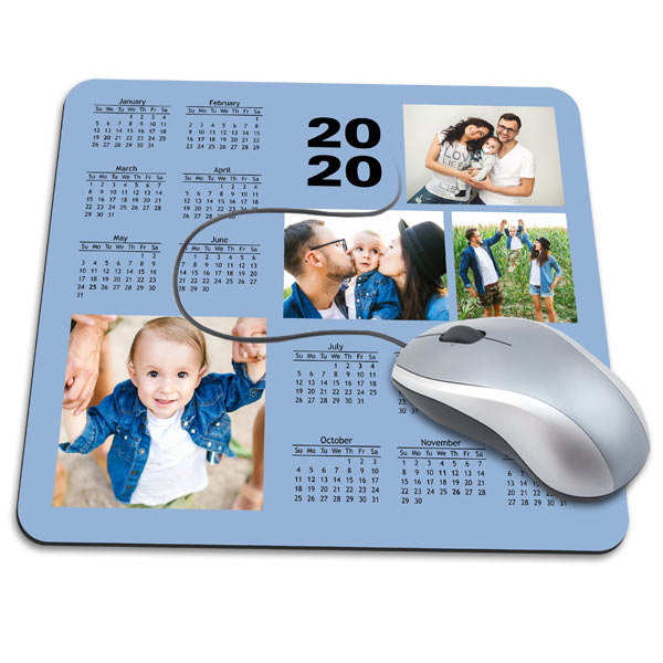 Create a beautiful and useful mouse pad for your desk featuring a 2020 Calendar