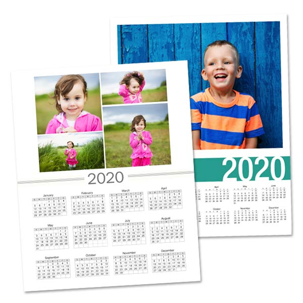 Create a single page at a glance calendar perfect for notebooks and lockers