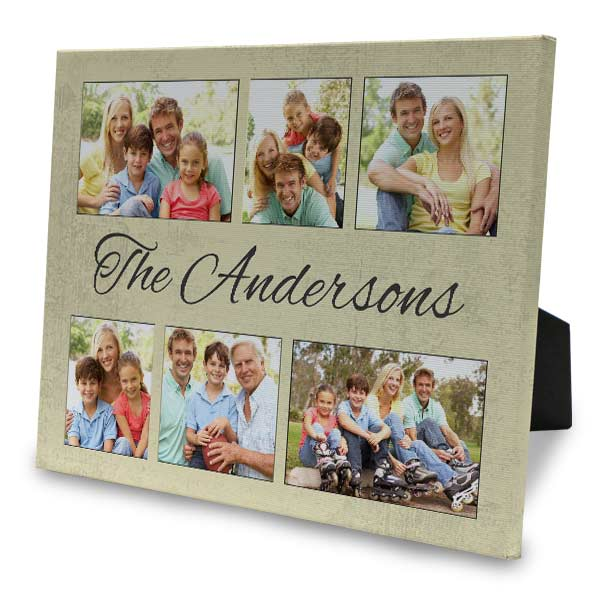 Designer easel back canvas with multiple design and photo options to choose from.