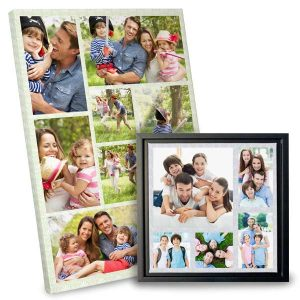Tell a story with a picture collage of prints in your home.