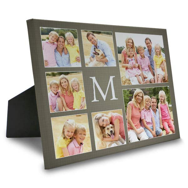 Custom collage canvas with easel back and designer options for your home.