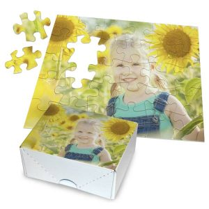 Create a great gift for kids with a personalized photo puzzle with included box