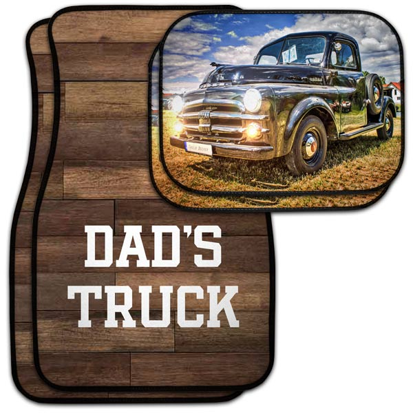 Add style to your car or truck with personalized floor mats in the front and back seat