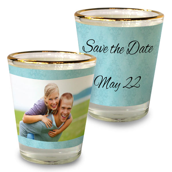 Custom shot glass party favors perfect for weddings and events