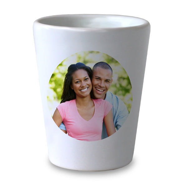 Choose from many designs to create your own shot glass with MyPix2