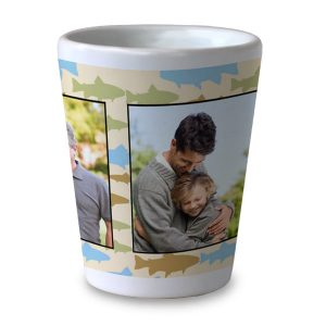 Create custom shot glass with designer backgrounds, patterns and photos