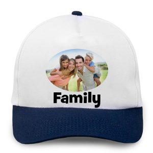 Personalize your own baseball cap with photos and text