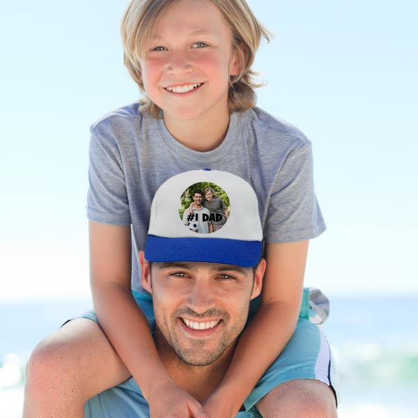 Create a gift for dad or grandpa with a personalized baseball cap