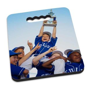 Stay comfortable during sporting events with a Personalized Neoprene seat cushion