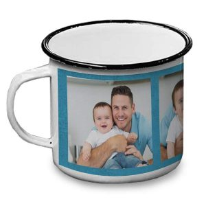 Create your own enamel camping mug for your next camping trip, makes a great gift