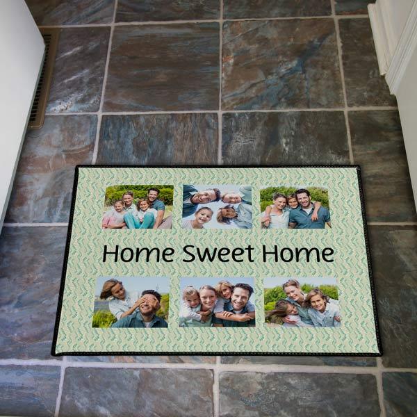 Create your own photo collage door mat with custom door mats from MyPix2