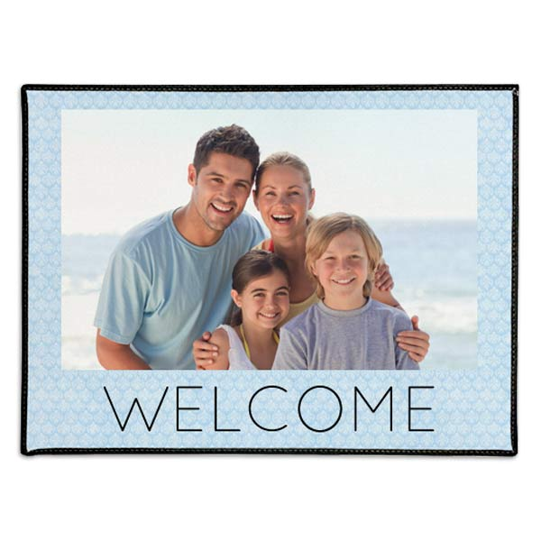Receive a warm welcome home every day with photo personalized door mats for your home