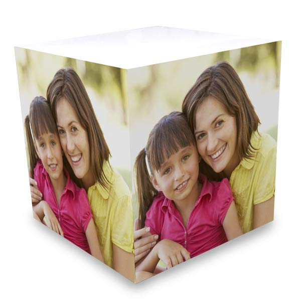 Keep your favorite memory alive with a photo cube of sticky notes for your desk, a great and useful gift