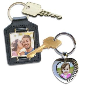 Choose from a number of key chains you can personalize with your own photo, perfect for anyone