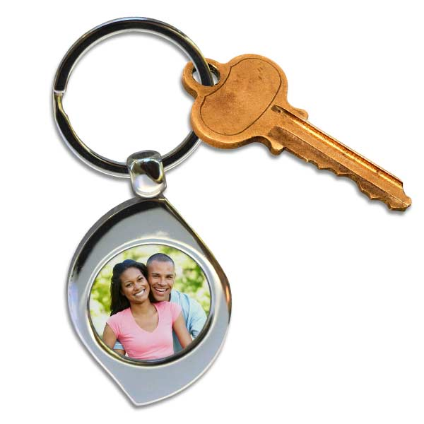 Keep your keys together with a custom photo key chain, swirl or teardrop key chain