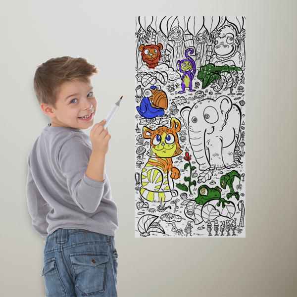 Now your kids can draw on the walls with fun coloring wallpaper