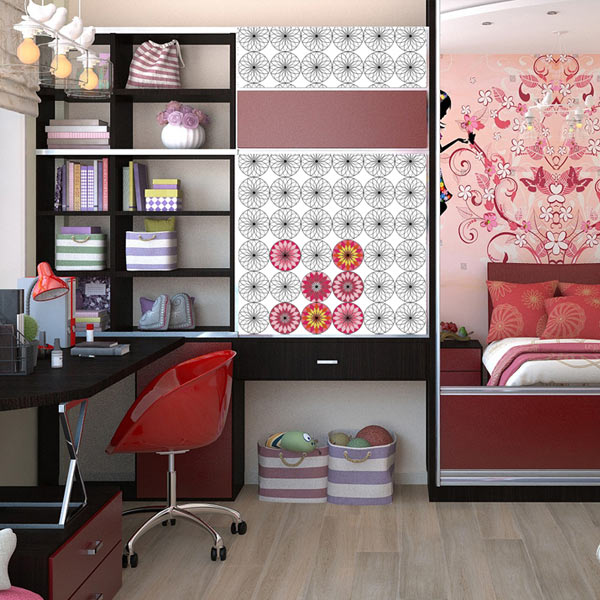 Create an accent wall you can color any way you like with coloring wallpaper