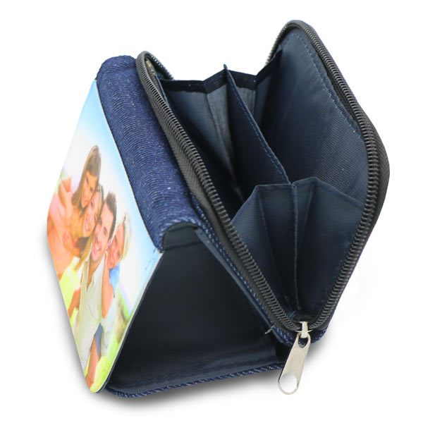 Create a denim wallet for your kids which includes a coin holder