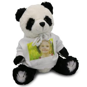 Personalized Panda Bear with photo custom sweatshirt is great for kids