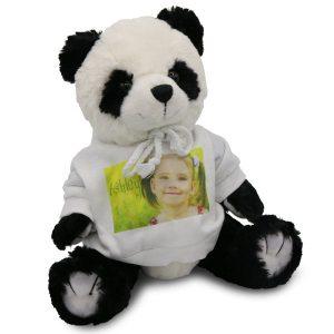 Personalized Panda Bear with photo custom sweatshirt is great for kids