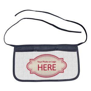 Add your photo or logo to a personalized waist apron for your small business or bar