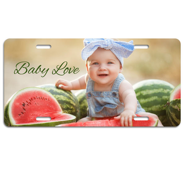 Add a personal touch to your car or truck with a custom photo license plate and optional text
