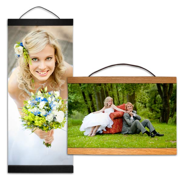 Multiple sizes and shapes to choose from for hanging canvas with wood trim