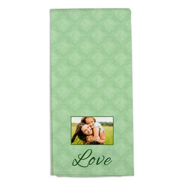 Personalized tea towels with photos and text make a statement in your home