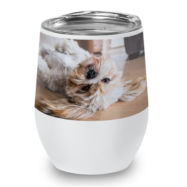Create a beautiful wine cup for your collection by adding your own photo or logo