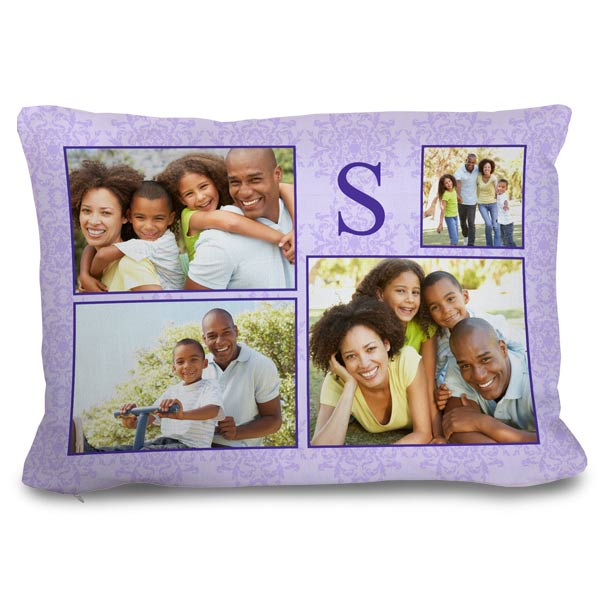 Create a custom couch pillow with pictures and text and add color to your home