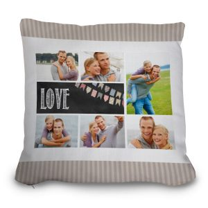 Add your own photos and create a custom pillow for your couch and enjoy the memories for a long time
