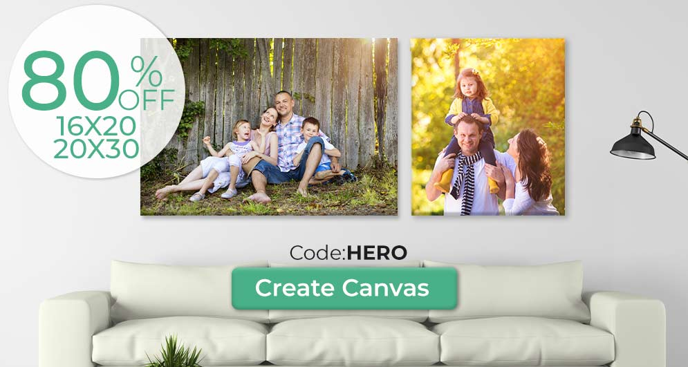Save up to 80% on beautiful canvas products for your home or office