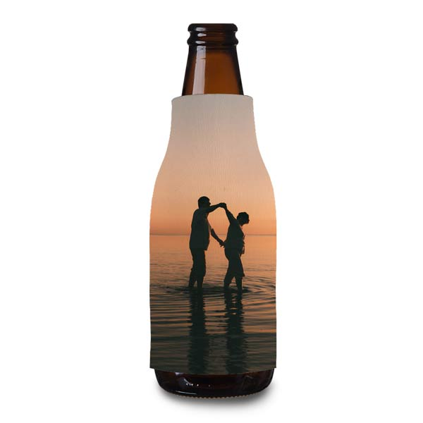 Personalize your own bottle cooler to keep your glass bottle cool outside