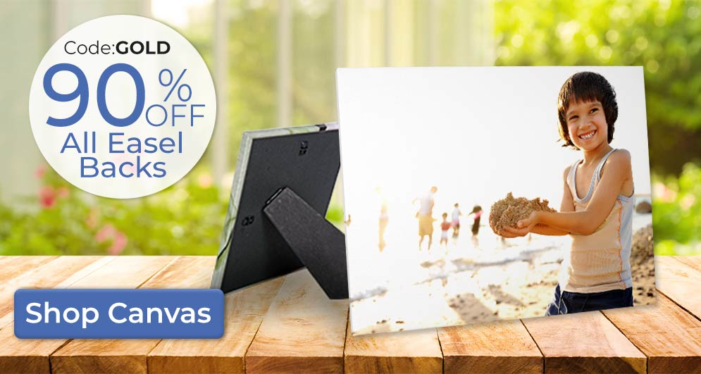 Save on our easel back canvas currently on sale for 90% Off