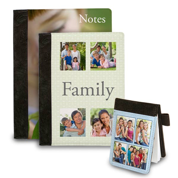 Folio notebooks personalized by you by adding pictures and text